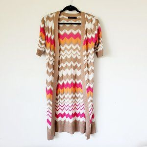 The Limited summer duster cardigan in chevron knit